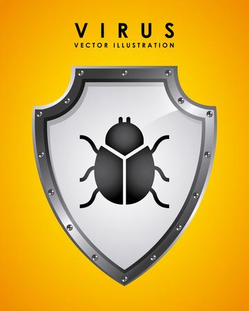 detected: virus graphic design , vector illustration