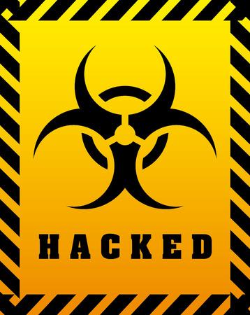 hacked: hacked graphic design , vector illustration Illustration