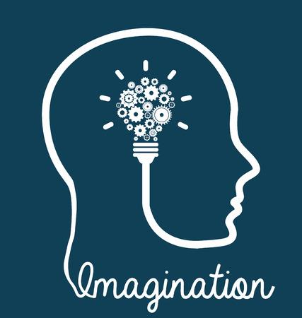 brain graphic design , vector illustration