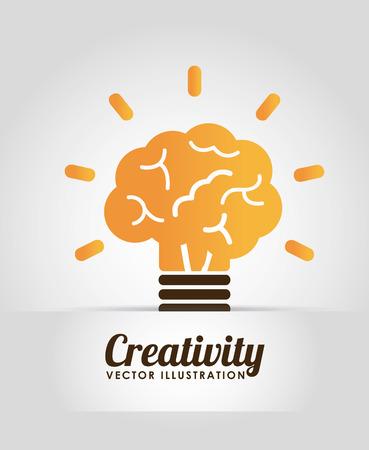 knowledge is power: brain graphic design , vector illustration