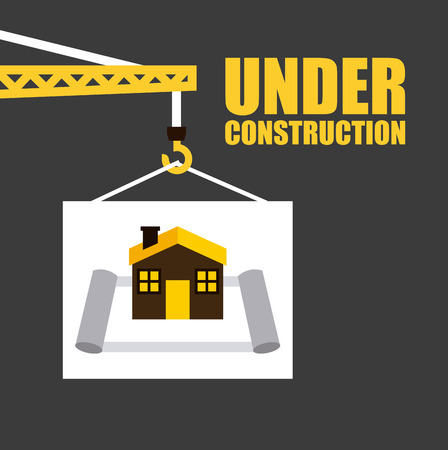 construction: under construction graphic design , vector illustration Illustration