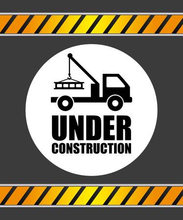 construction equipment: under construction graphic design , vector illustration Illustration