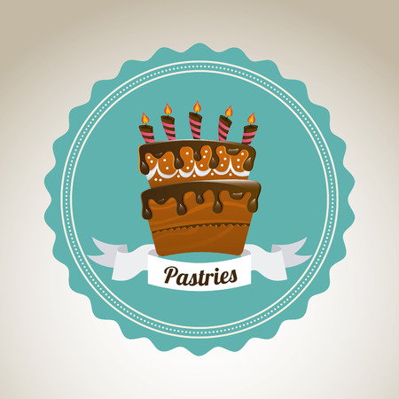 pastry graphic design , vector illustration Vector
