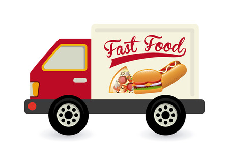 fast food graphic design , vector illustration Vector