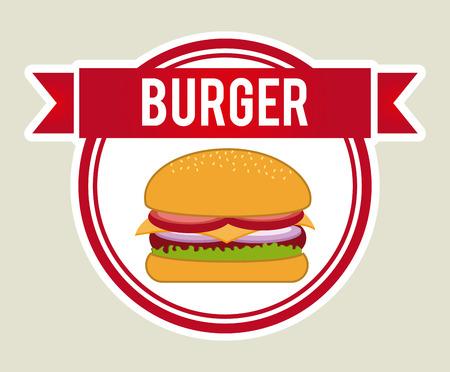 fast food graphic design , vector illustration Vector