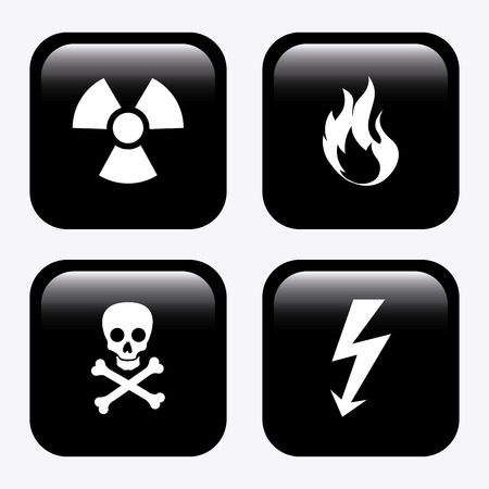 hazardous material: danger signal graphic design , vector illustration