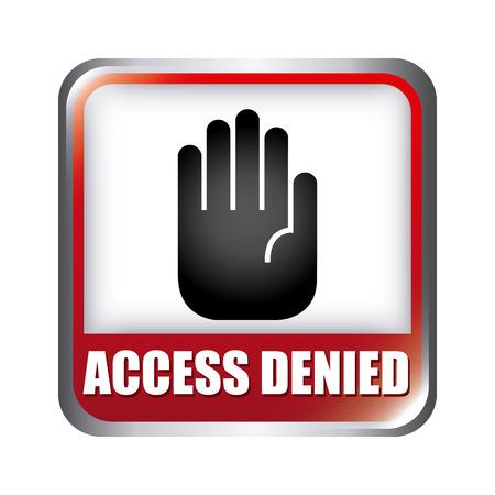 denied: acceso denegado dise�o gr�fico, ilustraci�n vectorial Vectores