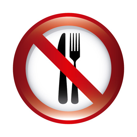 don't: dont food graphic design , vector illustration