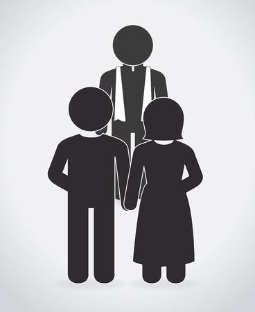 Wedding design over white background, vector illustration Vector