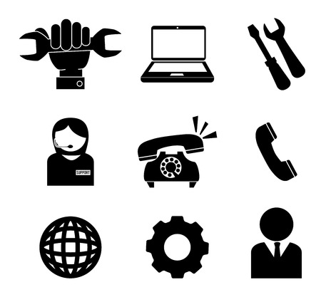 pc repair: Technical support design over white background, vector illustration