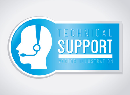 repair computer: Technical support design over white background, vector illustration