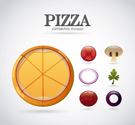 onion rings: pizza ingredients graphic design , vector illustration