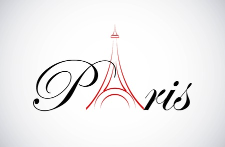 paris  graphic design , vector illustration Ilustracja