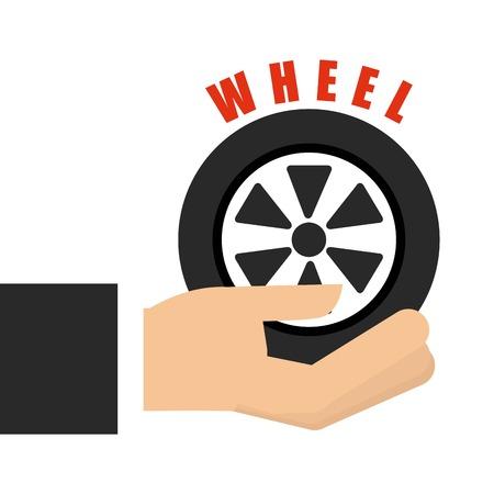 caravans: wheel car graphic design , vector illustration