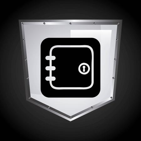 guard box: security shield graphic design , vector illustration Illustration