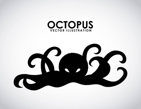 black octopus: octopus graphic design , vector illustration Illustration