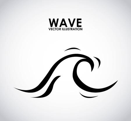 wave graphic design , vector illustration
