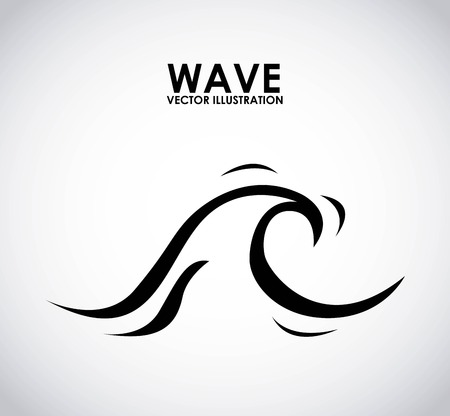 sea wave: wave graphic design , vector illustration