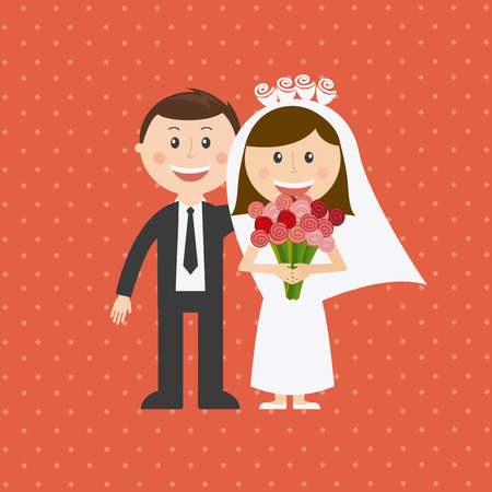 wedding veil: wedding graphic design , vector illustration
