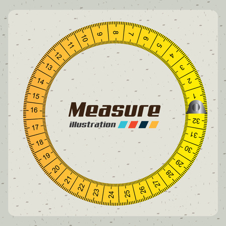 tape measure: measuring graphic design , vector illustration