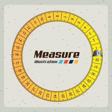 metro de medir: medición de diseño gráfico, ilustración vectorial