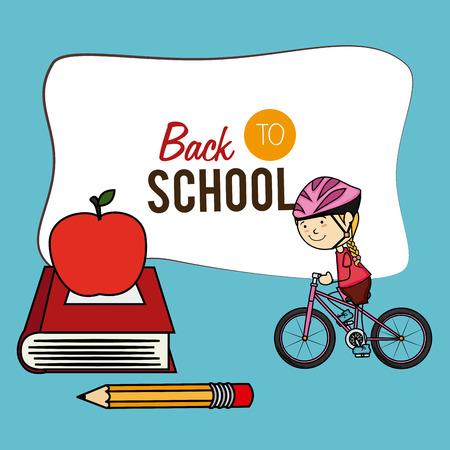 hapiness: School design over yellow background, vector illustration Illustration