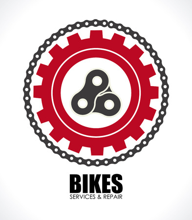 bike: Bike design over white background, vector illustration Illustration