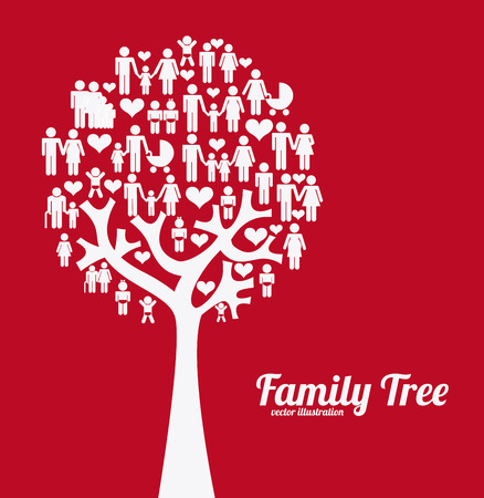 young tree: family graphic design , vector illustration Illustration