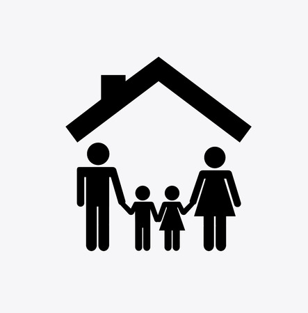 family holiday: family graphic design , vector illustration Illustration