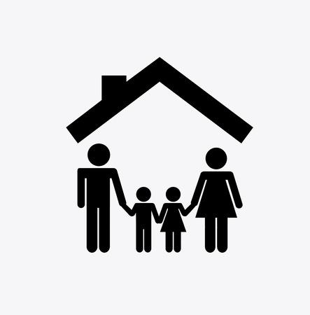 happy family concept: family graphic design , vector illustration Illustration