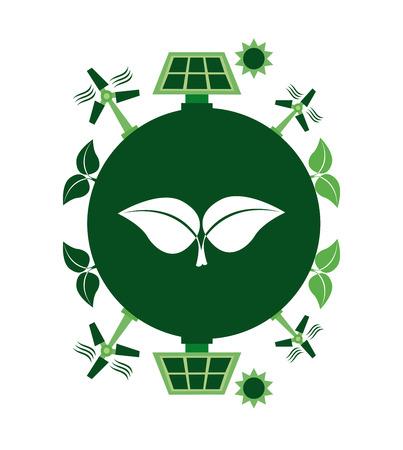 eco industry graphic design , vector illustration Vector