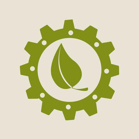 industria de eco diseño gráfico, ilustración vectorial