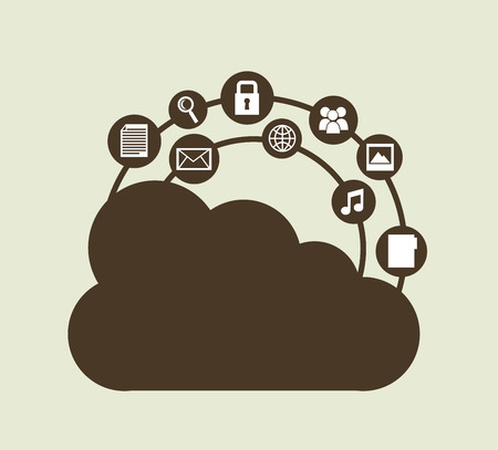 cloud computing graphic design , vector illustration Vector