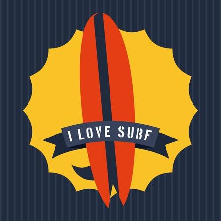 surf graphic design , vector illustration Vector