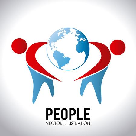 People design over white background, vector illustration Vector