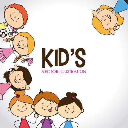 toddler girls: Kids design over white background, vector illustration