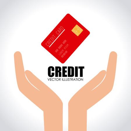 hand business card: Money design over white background, vector illustration