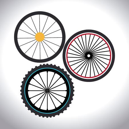 bike vector: Dise�o de la bici sobre el fondo blanco, ilustraci�n vectorial