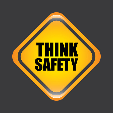 construction safety: safety graphic design , vector illustration