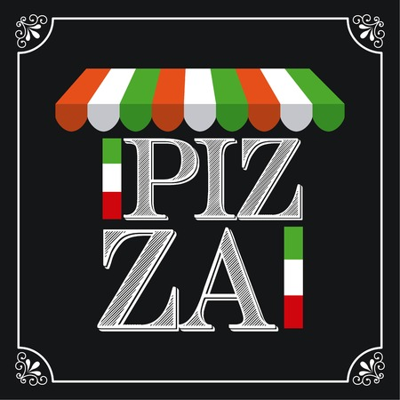 pizza place: pizza graphic design , vector illustration