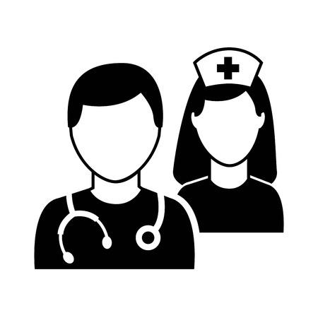 nurses: medical graphic design , vector illustration Illustration