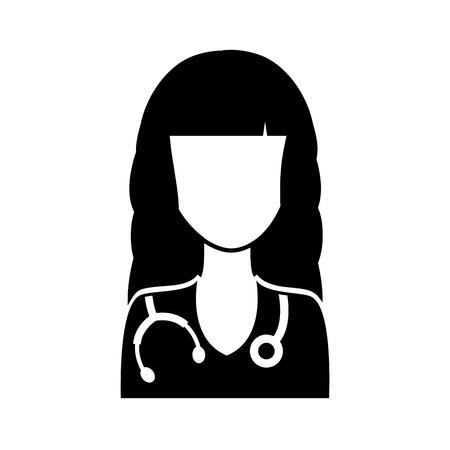 female doctor: medical graphic design , vector illustration Illustration