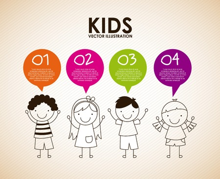 children school: kids graphic design , vector illustration Illustration