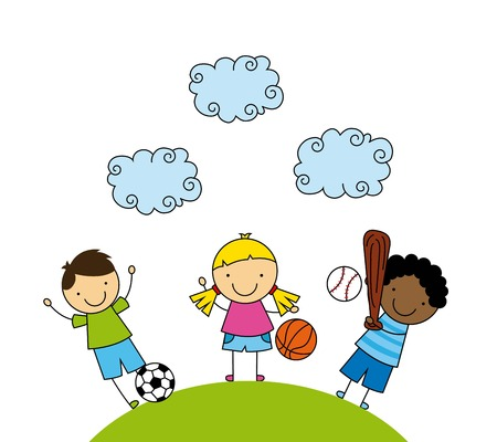 kids graphic design , vector illustration Vector