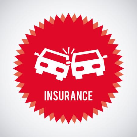 car security: insurance graphic design , vector illustration