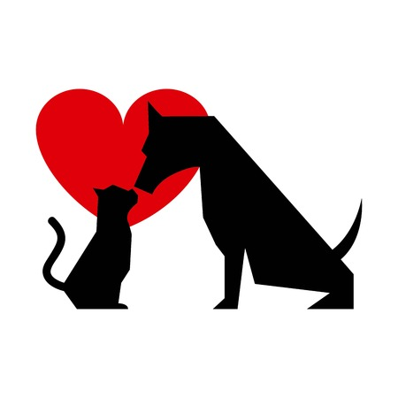 cat and dog graphic design , vector illustration Vector