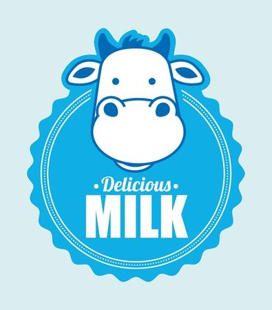 fresh milk: milk graphic design , vector illustration
