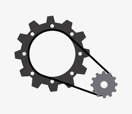 gears graphic design , vector illustration Vector