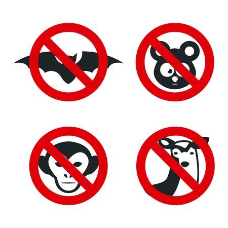 denied: animales neg� dise�o gr�fico, ilustraci�n vectorial