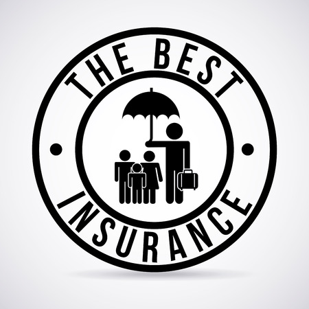 insurance graphic design , vector illustration